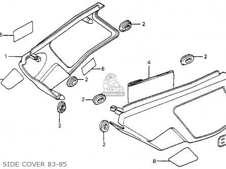 Honda Xl80s 1984 (e) Usa parts list partsmanual partsfiche