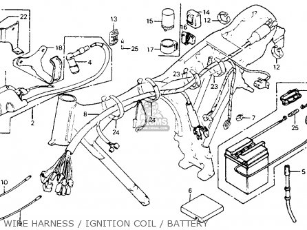 Honda Xl80s 1984 (e) Usa parts list partsmanual partsfiche