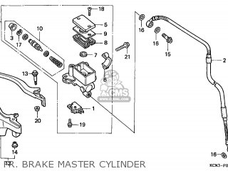 Honda Xlr125r 1998 (w) England / Mkh parts list