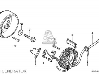 Honda XLR125R 1998 (W) FRANCE / KPH parts lists and schematics