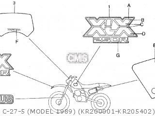 Honda XLX250R 1984 BRAZIL parts lists and schematics