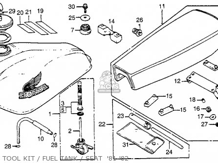 Honda Xr100 1981 (b) Usa parts list partsmanual partsfiche