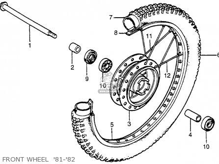 Honda XR100 1982 (C) USA parts lists and schematics