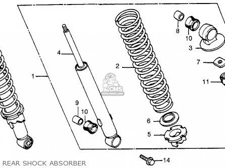 Honda XR100 1983 (D) USA parts lists and schematics
