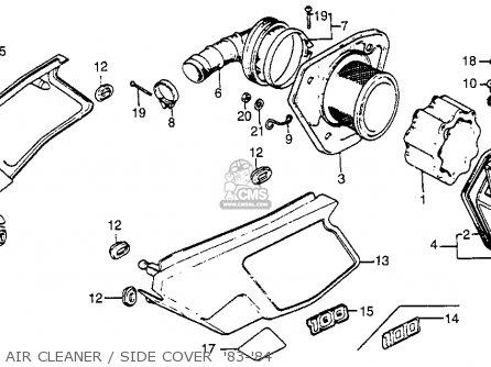 Honda XR100 1984 (E) USA parts lists and schematics