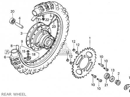 Honda XR100R 1985 (F) USA parts lists and schematics