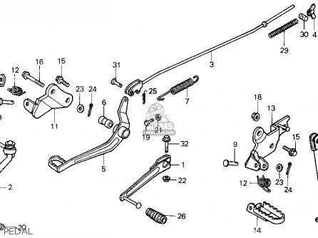 Honda Xr100r 1986 (g) Usa parts list partsmanual partsfiche