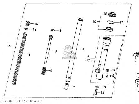 Honda XR100R 1987 (H) USA parts lists and schematics