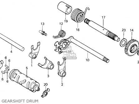 Honda Xr100r 1987 (h) Usa parts list partsmanual partsfiche