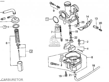 Honda Xr100r 1987 Usa parts list partsmanual partsfiche
