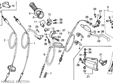 Honda Xr100r 1991 Usa parts list partsmanual partsfiche