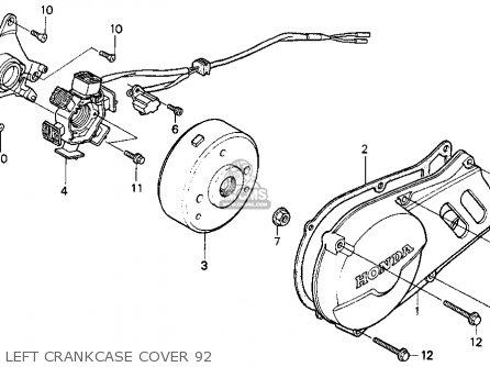 Honda Xr100r 1992 Usa parts list partsmanual partsfiche