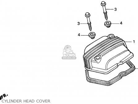 Honda XR100R 1993 (P) USA parts lists and schematics