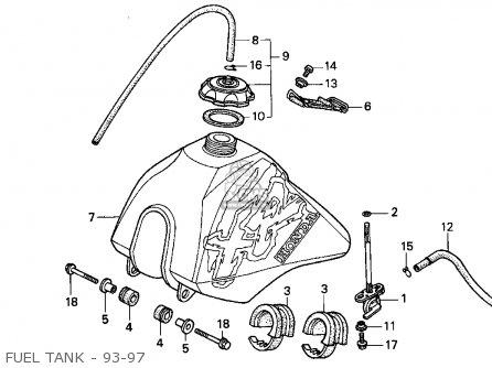 Honda Xr100r 1993 (p) Usa parts list partsmanual partsfiche
