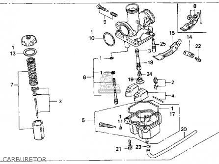 Honda Xr80 Carburetor Diagram, Honda, Get Free Image About