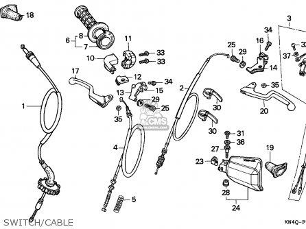 Honda Xr100r 1994 (r) Canada Ref parts list partsmanual