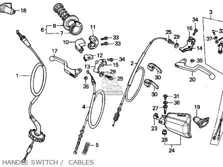 Honda Xr100r 1994 Usa parts list partsmanual partsfiche