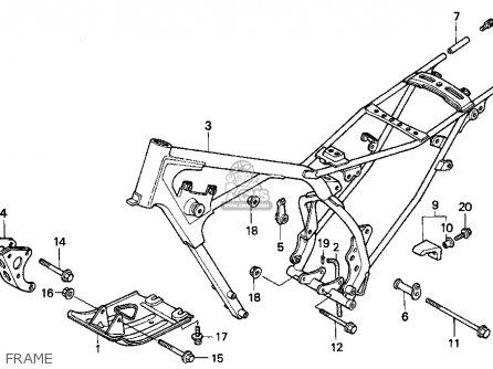 Honda Xr100r 1995 Usa parts list partsmanual partsfiche