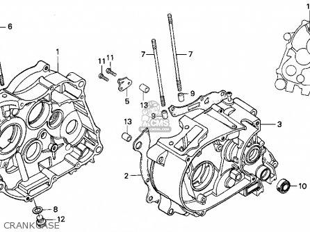 Honda Xr100r 1997 Usa parts list partsmanual partsfiche