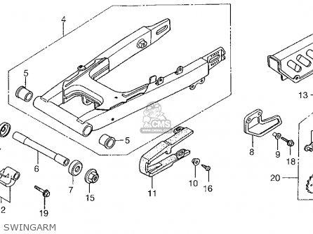Honda Xr100r 1999 Usa parts list partsmanual partsfiche