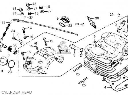 Honda Xr185 1979 (z) Usa parts list partsmanual partsfiche