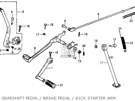 Honda XR200 1980 (A) USA parts lists and schematics
