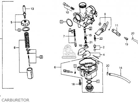 Honda Xr200 1981 (b) Usa parts list partsmanual partsfiche