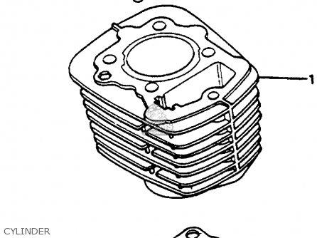 Honda XR200 1984 (E) USA parts lists and schematics