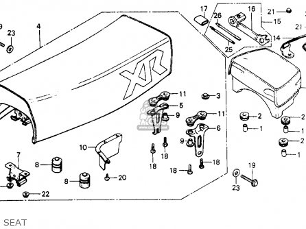 Honda Xr200 1984 (e) Usa parts list partsmanual partsfiche
