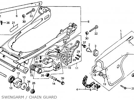 Honda XR200 1984 (E) USA parts lists and schematics