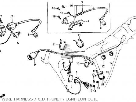 Honda Xr200 1984 Usa parts list partsmanual partsfiche