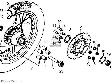 Honda Xr200r 1981 (b) Usa parts list partsmanual partsfiche