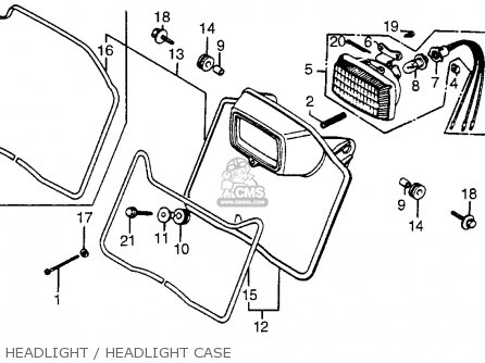 Honda Xr200r 1981 Usa parts list partsmanual partsfiche