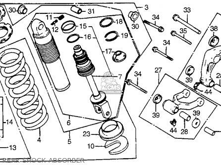 Honda Xr200r 1981 Usa parts list partsmanual partsfiche