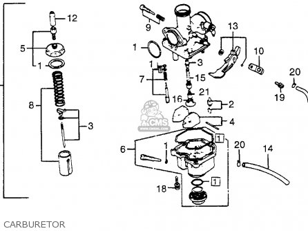 Honda XR200R 1982 (C) USA parts lists and schematics