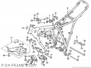 Honda XR200R 1983 (D) parts lists and schematics