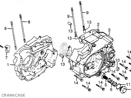 Honda Xr200r 1983 (d) Usa parts list partsmanual partsfiche