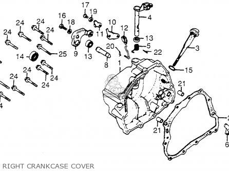 Honda XR200R 1983 (D) USA parts lists and schematics