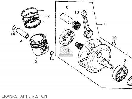 Honda Xr200r 1983 Usa parts list partsmanual partsfiche
