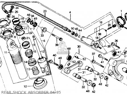 Honda XR200R 1984 (E) USA parts lists and schematics