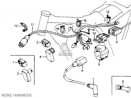 Honda Xr200r 1984 Usa parts list partsmanual partsfiche