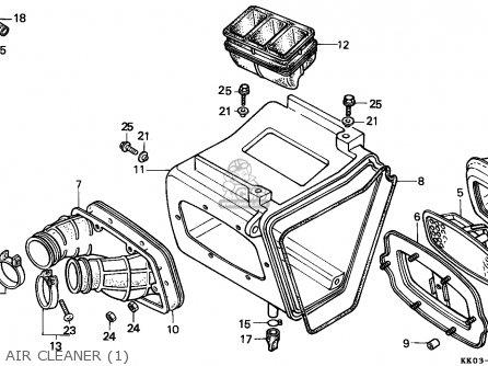Honda Xr200r 1985 (f) South Africa parts list partsmanual