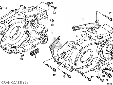 Honda XR200R 1985 (F) SOUTH AFRICA parts lists and schematics