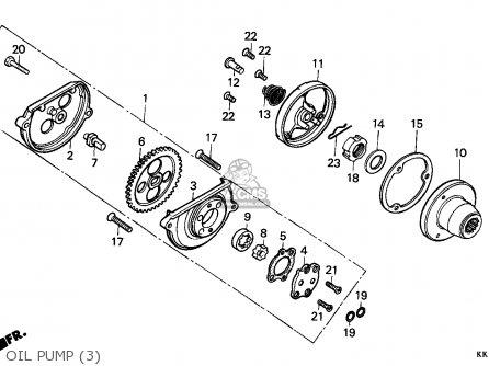 Honda Xr200r 1986 Canada / Cmf parts list partsmanual