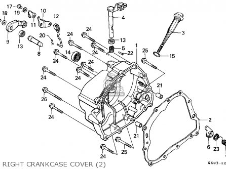 Honda XR200R 1986 (G) CANADA / CMF parts lists and schematics