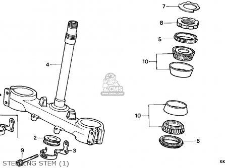 Honda XR200R 1986 (G) CANADA / CMF parts lists and schematics