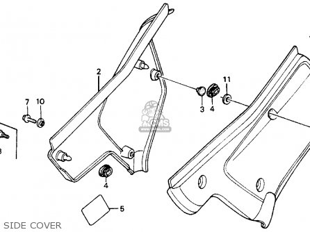 Honda XR200R 1986 (G) USA parts lists and schematics