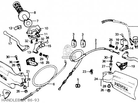 Honda Xr200r 1986 Usa parts list partsmanual partsfiche