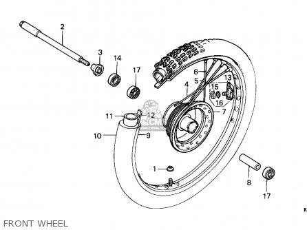 Honda Xr200r 1987 Australia parts list partsmanual partsfiche