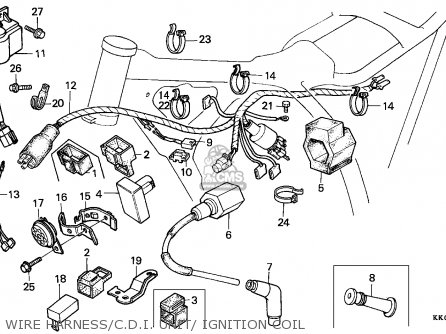 Honda Xr200r 1987 Australia parts list partsmanual partsfiche